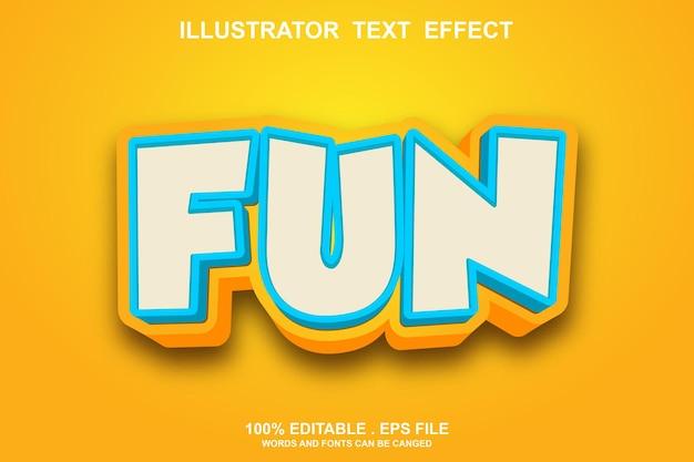 Fun text effekt bearbeitbar Premium Vektoren