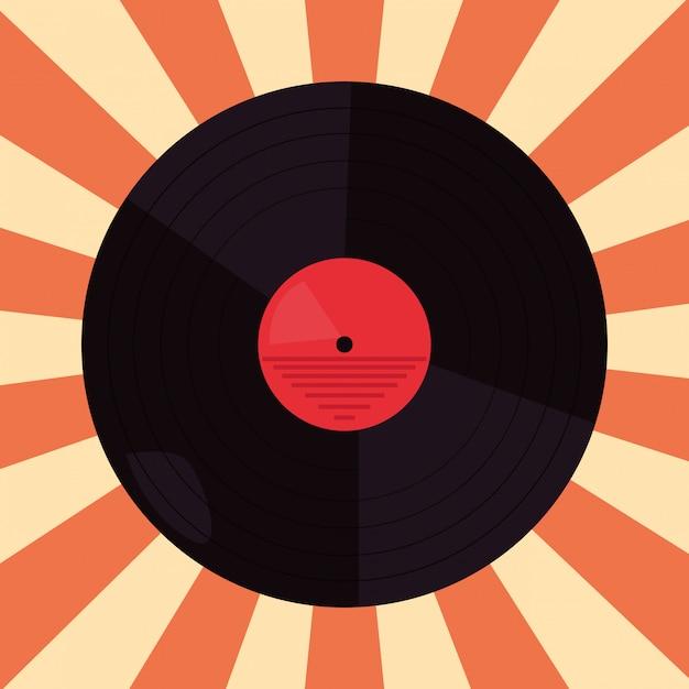 Funk disco vinyl Premium Vektoren