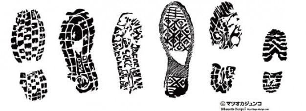 Tennis Shoe Print Clip Art