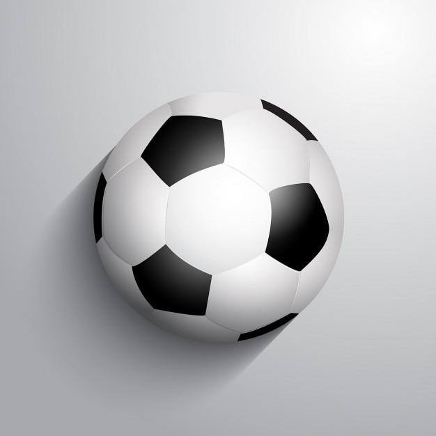 Fußball fußball auf einem monochromen hintergrund mit schatten Kostenlosen Vektoren