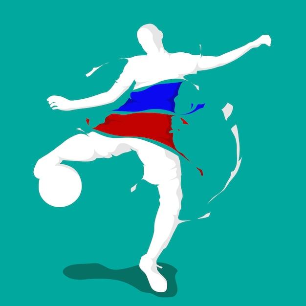 Fußball fußball splash nation flagge frankreich Premium Vektoren