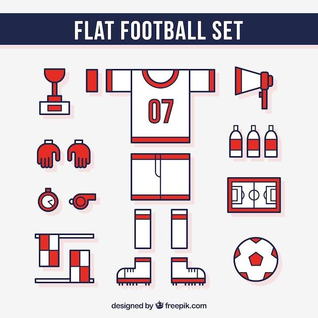 Fußball-gerätesatz Kostenlosen Vektoren
