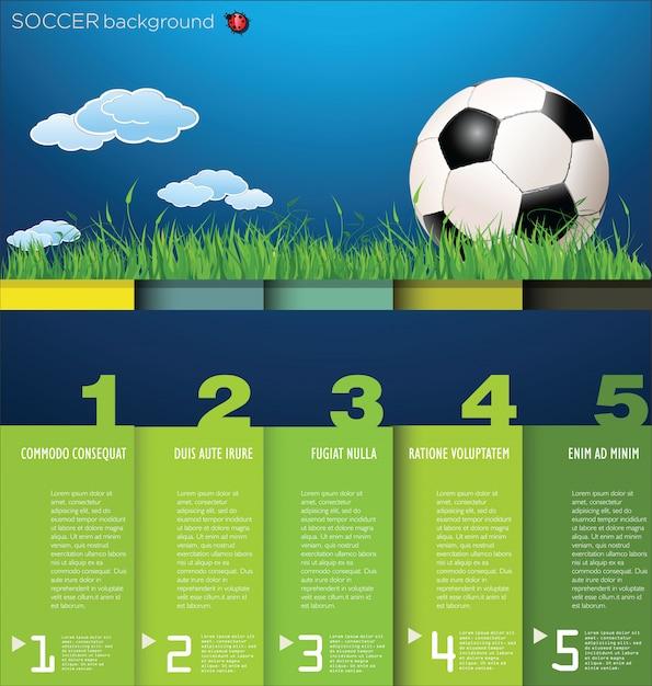 Fußball hintergrund Premium Vektoren