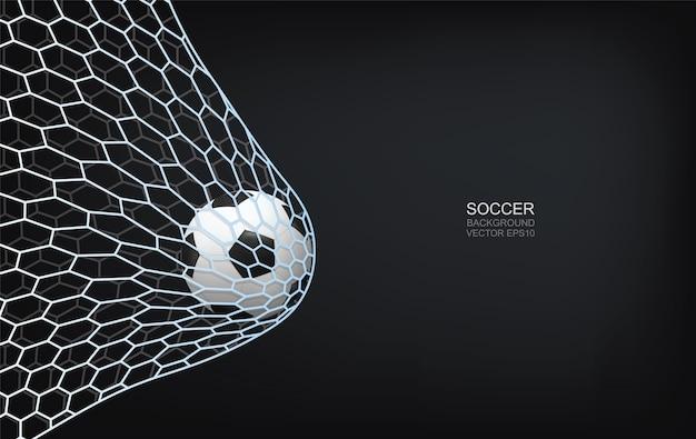 Fußball im tor. Premium Vektoren