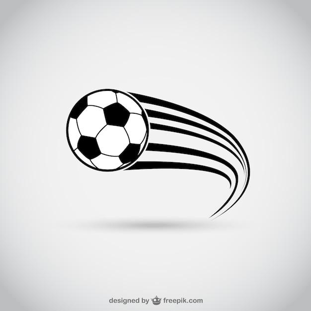 Fußball in bewegung Kostenlosen Vektoren