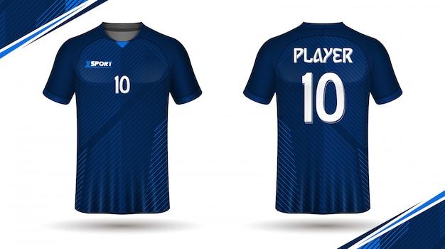Fußball jersey vorlage-sport t-shirt design Premium Vektoren