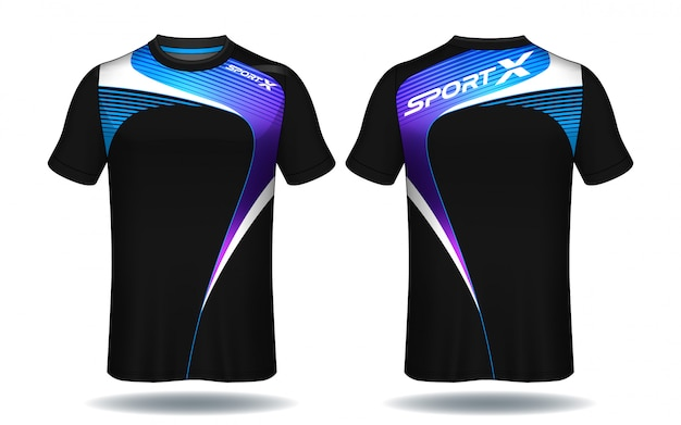 Fußball-jersey-vorlage. sport t-shirt-design. Premium Vektoren