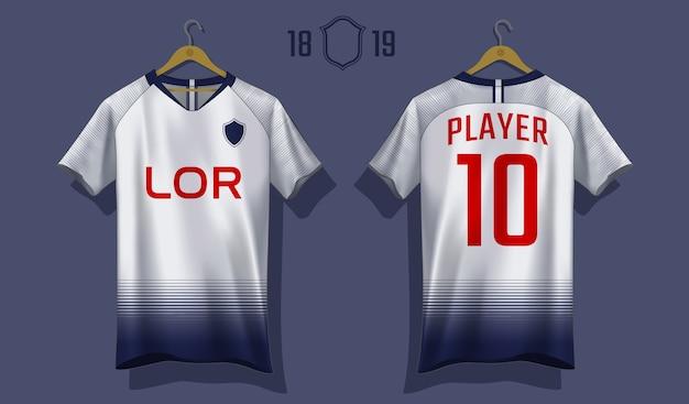 Fußball jersey vorlage. sport t-shirt design. Premium Vektoren
