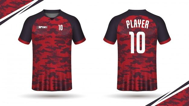 Fußball jersey vorlage-sport-t-shirt Premium Vektoren