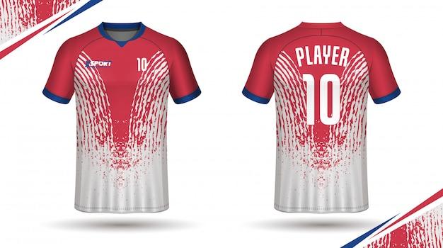 Fußball jersey vorlage sport t-shirt Premium Vektoren