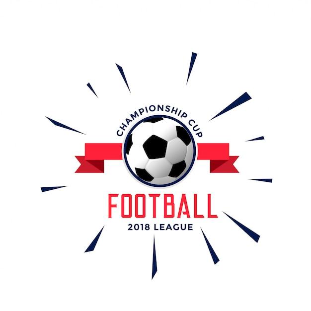 Fußball-Meisterschaft-Logo-Stil-Konzept-Design Kostenlose Vektoren