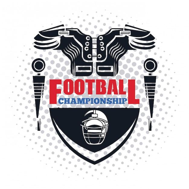 Fußball-meisterschaft-symbol Premium Vektoren