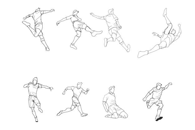 Fussball Oder Fussball Gekritzel Eigenhandig Zeichnen