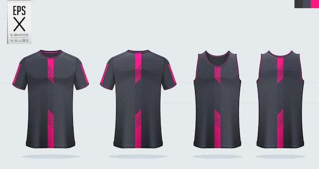 Fußball- oder sporthemdschablonenentwurf Premium Vektoren