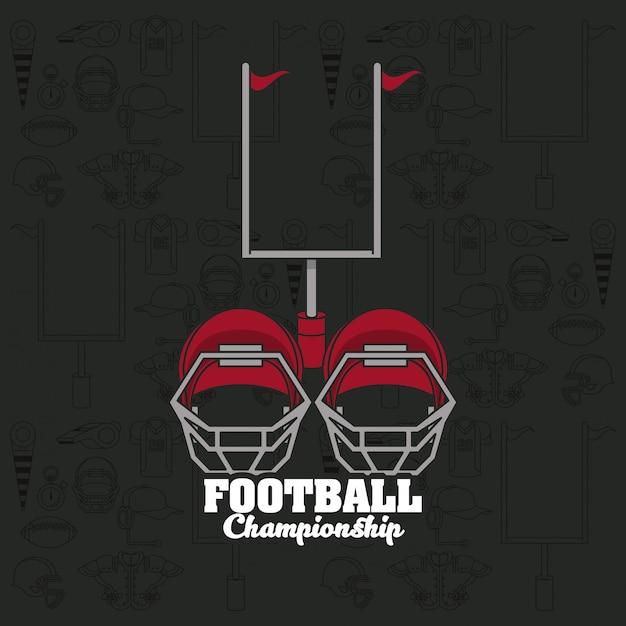 Fußball sport meisterschaft turnier emblem Premium Vektoren