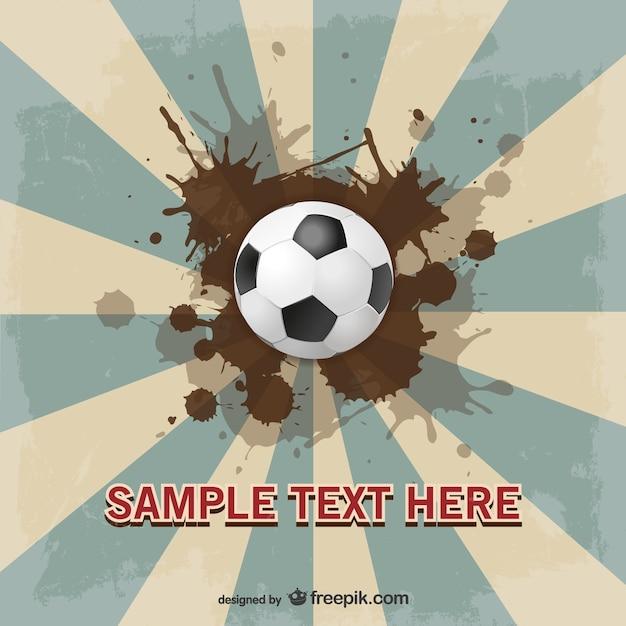 Fußball suburst vektor-vorlage design Kostenlosen Vektoren