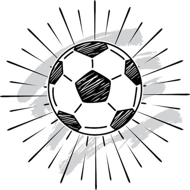 Fussball Symbol Premium Vektor