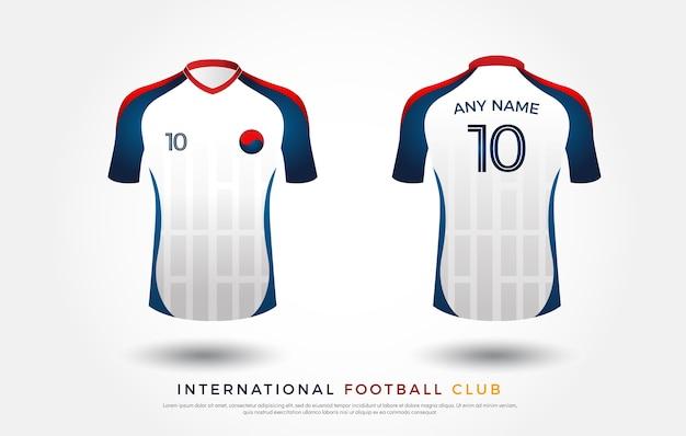 Fußball-t-shirt-design-uniform Premium Vektoren