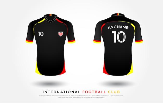 Fußball-T-Shirt einheitliche Reihe von Fußball-Kit. Fußball Jersey ...