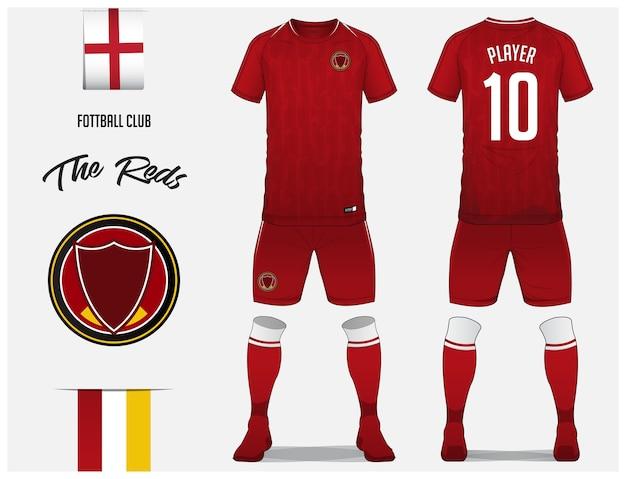Fußball-trikot oder fußball-kit-vorlage Premium Vektoren