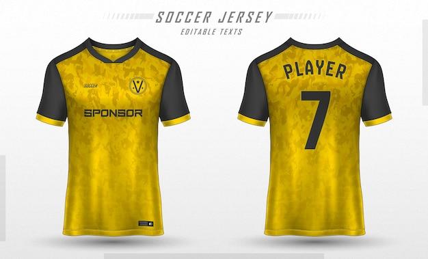 Fußball trikot vorlage sport t-shirt design Kostenlosen Vektoren