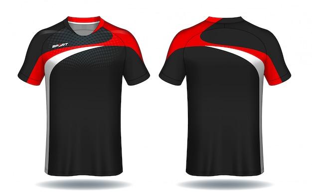 Fußball trikot vorlage. sport t-shirt design. Premium Vektoren