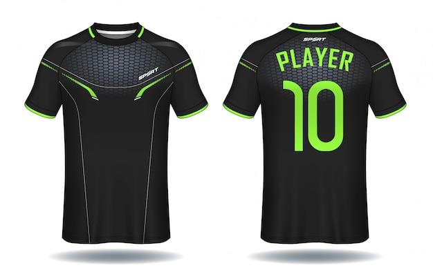 Fußball trikot vorlage Premium Vektoren