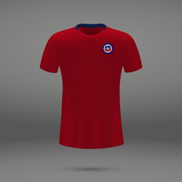 Fußballausrüstung von chile, t-shirt schablone für fußball jersey Premium Vektoren