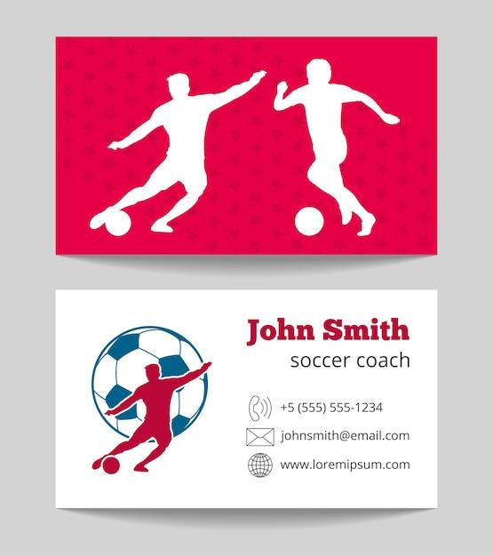 Fußballclub Visitenkarte Beide Seiten Vorlage Download Der