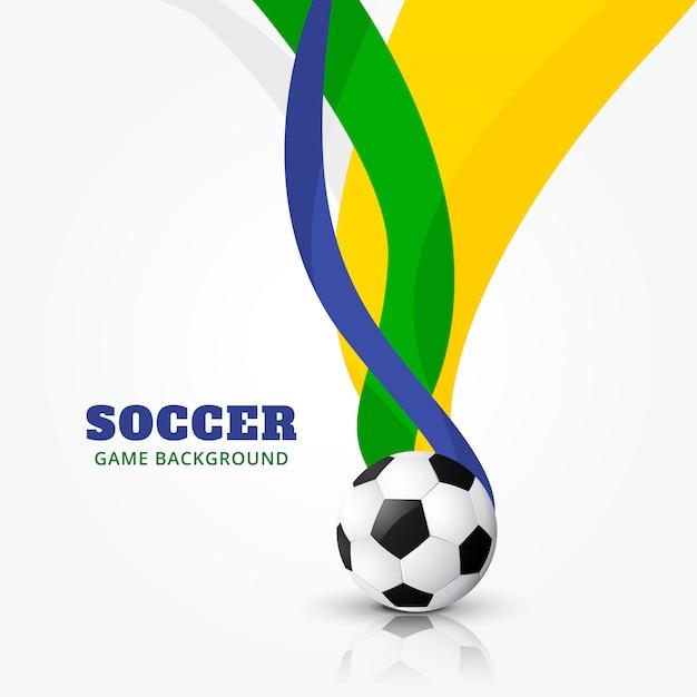 Fußballdesign mit wellenformen Premium Vektoren
