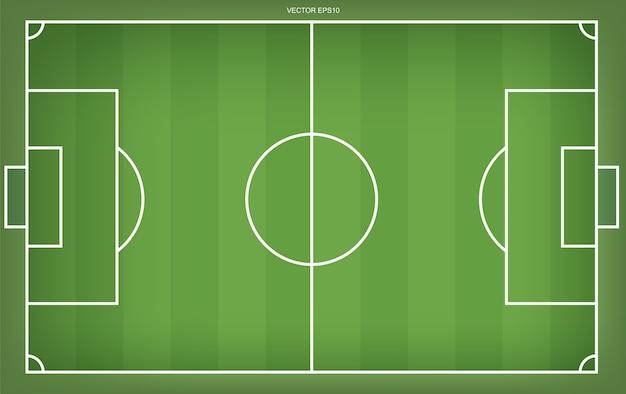 Fußballfeld oder fußballfeldhintergrund Premium Vektoren