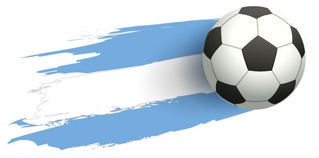 Fußballfliegen-hintergrundflagge von argentinien Premium Vektoren