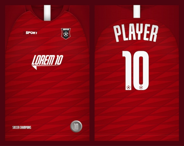 Fußballjersey-schablonensport-t-shirt design Premium Vektoren
