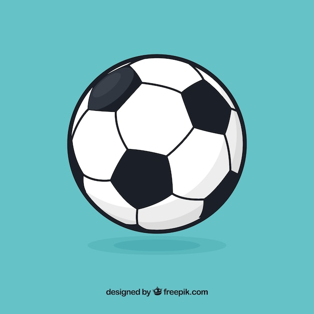 Fußballkugelhintergrund in der flachen art Kostenlosen Vektoren