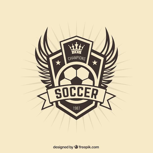 Fußballmannschaft badge Kostenlosen Vektoren