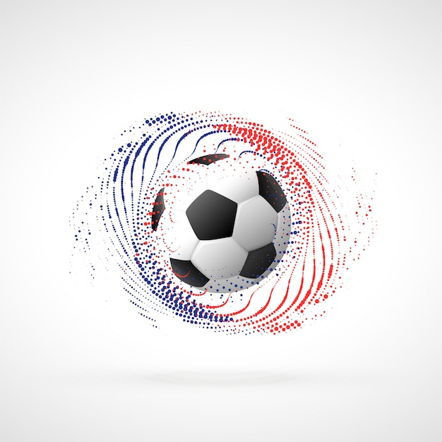 Fußballmeisterschafts-Fahnenentwurf mit Partikelstrudel Kostenlose Vektoren