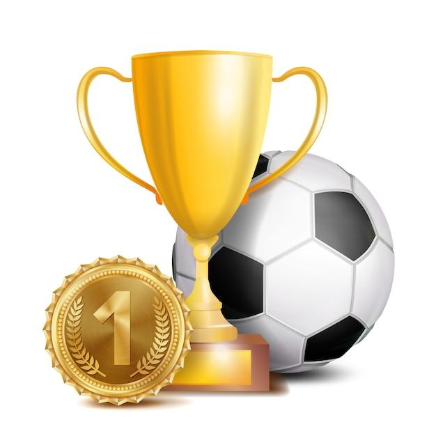 Fußballpreis Premium Vektoren