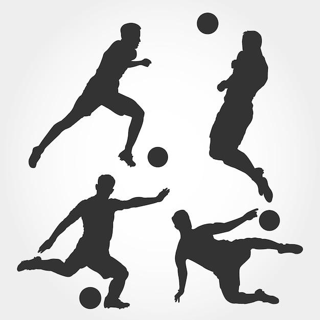 Fussballspieler Silhouette Premium Vektor