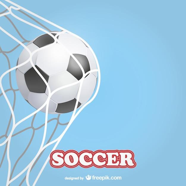 Fußballtor vektor-vorlage Kostenlosen Vektoren