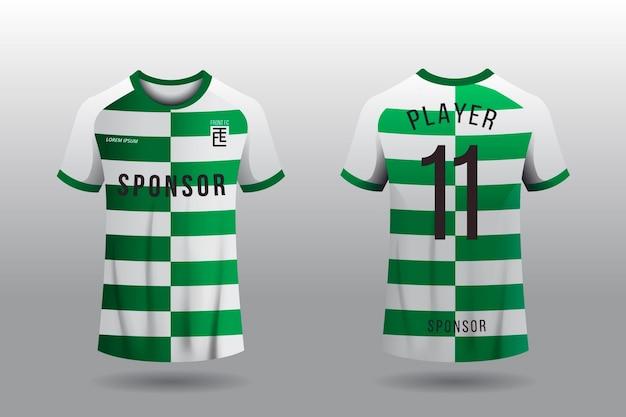 Fußballtrikot-t-shirt-konzept Premium Vektoren