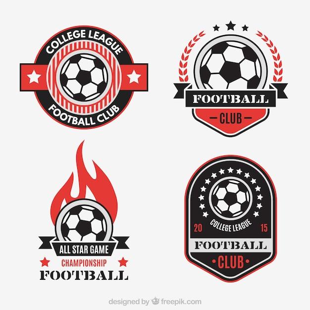 Fußballverein abzeichen Kostenlosen Vektoren