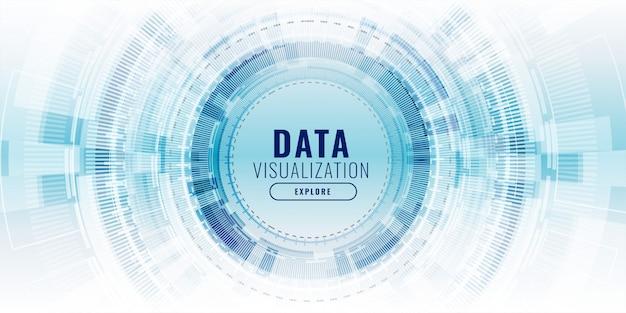 Futuristische datenvisualisierungs-technologiekonzeptfahne Kostenlosen Vektoren