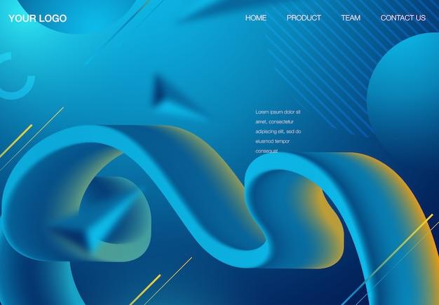 Futuristische horizontale vektorsteigung Premium Vektoren