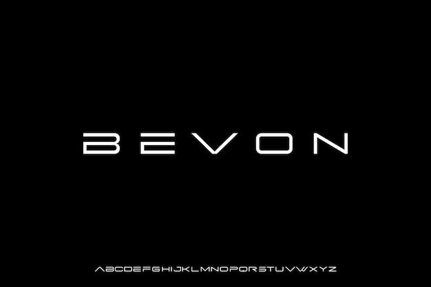 Futuristische moderne geometrische alphabetschrift Premium Vektoren