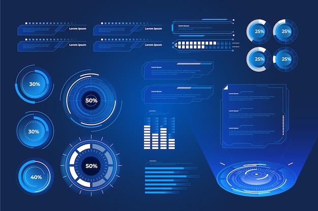 Futuristische technologie infografik Kostenlosen Vektoren
