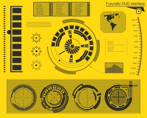 Futuristische technologie-schnittstelle hud ui. Premium Vektoren