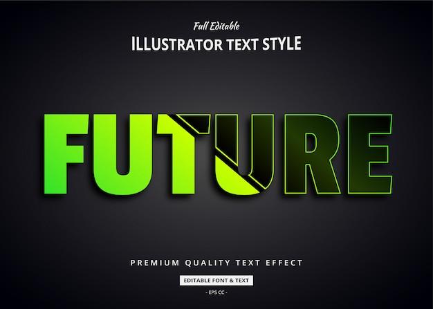 Futuristischer 3d-textstil-effekt Premium Vektoren