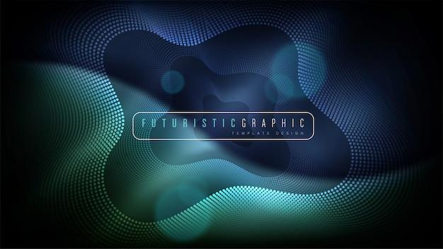 Futuristischer abstrakter hintergrund Premium Vektoren