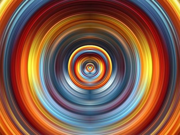 Futuristischer aquarellkreiskunsthintergrund Premium Vektoren