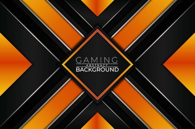 Futuristischer gaming-hintergrund orange style Premium Vektoren